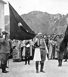 King_Nicholas_of_Montenegro_with_captured_Ottoman_flag