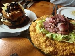 Au-Pied-de-Cochon-Cabane-à-Sucre-Martin-Picard-Montreal-Egg-soufflé-with-pork-beef-tongue-and-white-cake-with-foie-gras