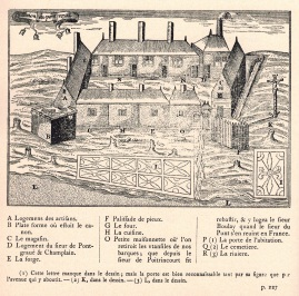 Québec, fondée par Champlain