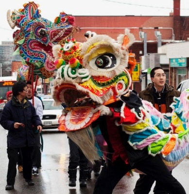 Xinhua Photo, OTTAWA: FEBRUARY 6, 2011 Lunar New Year Celebrations in Ottawa People parade through Chinatown during Lunar New Year Celebrations in Ottawa, Ontario, Canada, on February 6, 2011. (Xinhua / Christopher Pike)