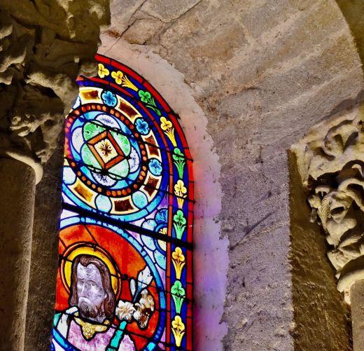 Abbaye St Ferme, vitrail