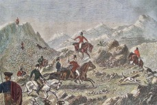 1876 - With the hounds at Gibraltar. (The Calpe Hunt).