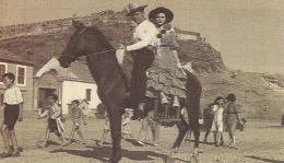Almmunecar, couple à cheval