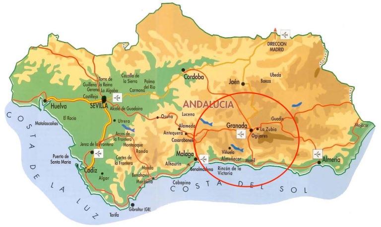 Carte Espagne Andalousie Almunecar.Une Histoire Andalouse 2 Memorabilia