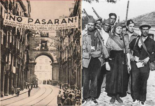 no_pasaran-Madrid-miliciens-republicains