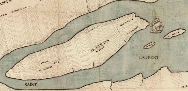 Carte_du_gouvernement_de_Québec_levée_en_l'année_1709_-_Isle_d_Orleans 2