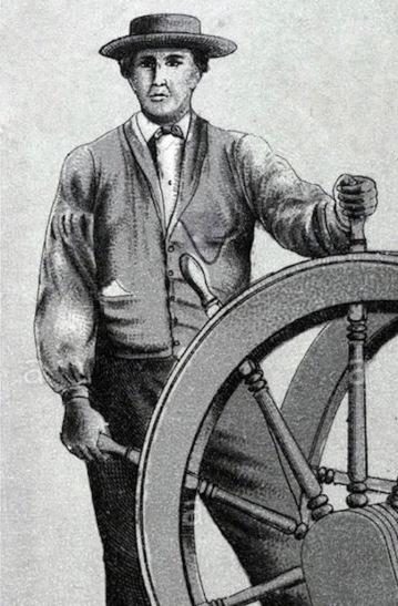 vers-1885-vue-de-richelieu-steamer-le-spartan-equitation-les-rapides-de-lachine-et-son-pilote-indien-baptiste-taiaiake-dx74rf