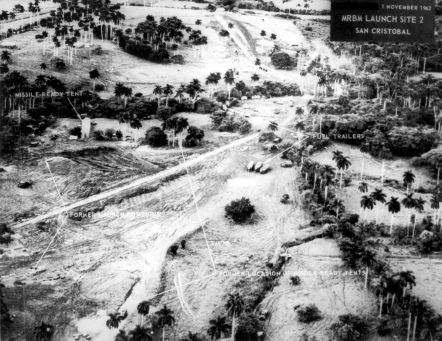 Cuba- an aerial view of the San Cristobal medium range ballastic missle launch site number two. November 1, 1962 (U.S. Air Force Photo)
