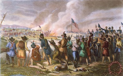 Battle Of New Orleans, 1815 Painting; Battle Of New Orleans, 1815 Art Print for sale