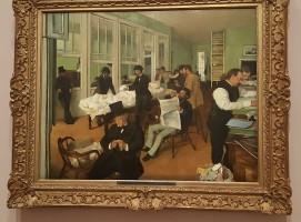 Le bureau du marchand de coton, Degas.