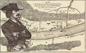 ca. 1815 --- Original caption: Map Of the Battle of New Orleans. The Map which is printed on the accompanying page was made, directly after the Battle of New Orleans was fought, by an artist who was an eye witness, and it has been accepted as an accurate illustration of the disposition and movements of the American and British forces in that memorable engagement. The picture is a past of the historical records of New Orleans, loaned to the author to be reproduced for use in Louisiana and the Fair. --- Image by © Bettmann/CORBIS