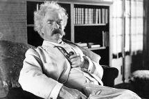Mark Twain devenu écrivain célèbre...