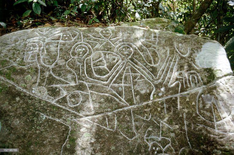 Pétroglyphe Arawak