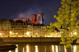 Smoke and flames rise during a fire at the landmark Notre-Dame Cathedral in central Paris, France on April 15, 2019. Photo by Aurore Marechal/ABACAPRESS.COM Notre Dame de Paris Notre-Dame de Paris (monument) Flames Flame Fire Flammes Flamme Incendier Bruler Incendie Feu Blaze | 679066_023 Paris France