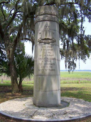 Charlesfort-Santa Elena Site Marker ( AKA Ribault Monument;San Marcos;San Felipe );