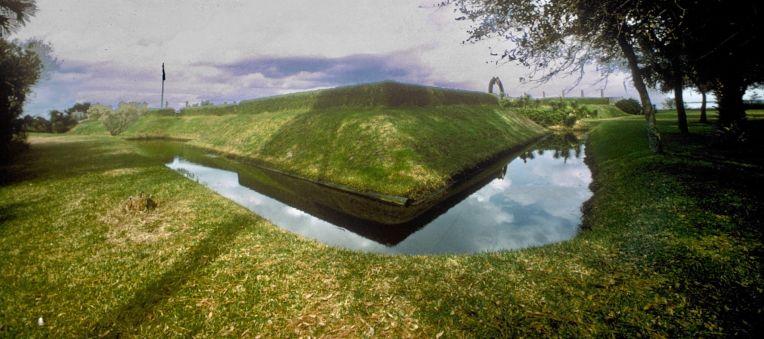 Fort Caroline. Fossé 2