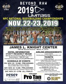 """Starting November 6th in Miami will be one of the hottest weekends yet as the nation's top- muscled bodybuilders, hot-bodied bikini contestants and chiseled physique competitors head to South Florida for the highest ranked and most important and significant event of the year sanctioned by the """"National Physique Committee"""" (NPC). This annual national event will be hosted at the James L. Knight Center inside the Hyatt Regency Miami (400 SW 2nd Avenue) on November 22nd & 23rd."""